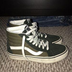 Vans Shoes - Green high top vans